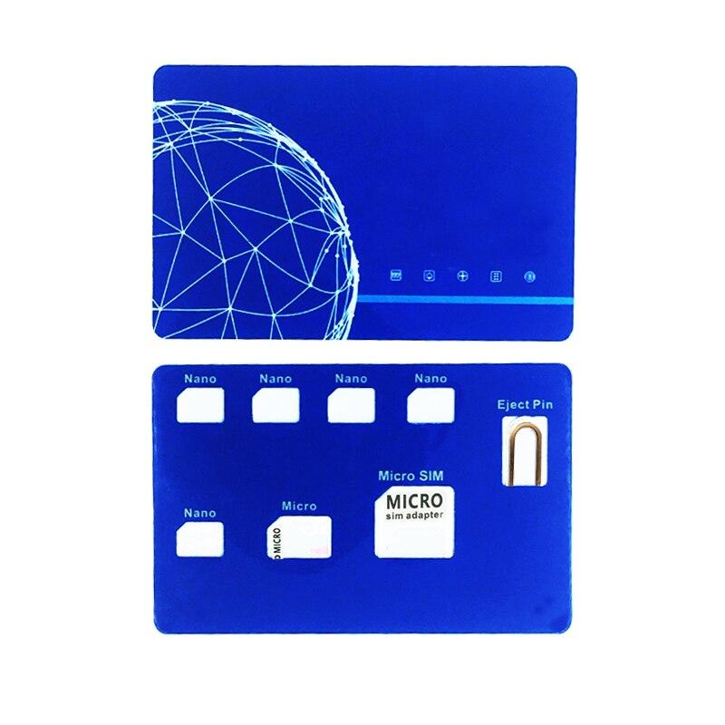 Nano SIM Card Holder Case With SIM Card Adapter Set & Phone Pin Needle & Quality Sim Converter Set For Nano Micro Sim Card