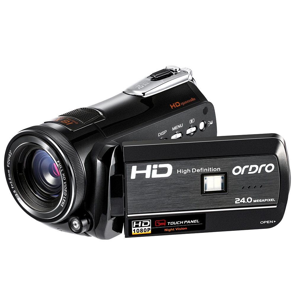 ordro night vision video camcorder wifi hd 1080p 30fps camera recorder with remote control. Black Bedroom Furniture Sets. Home Design Ideas