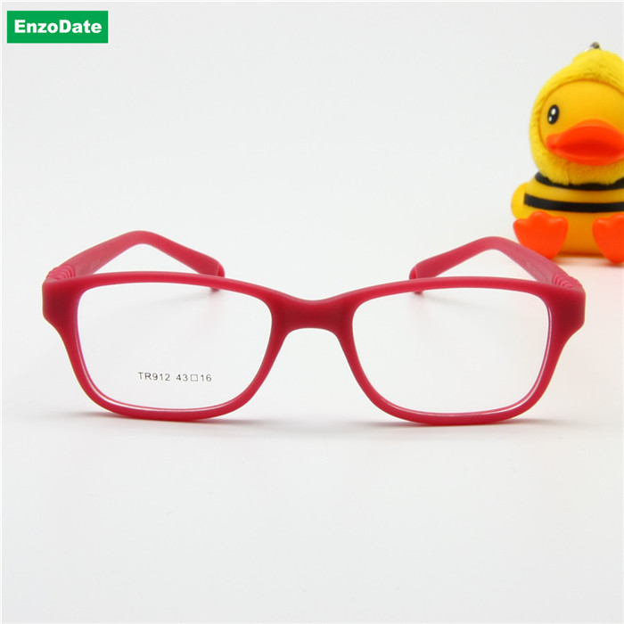 Image 2 - Boy Glasses Frame with Strap Size 43/16 One piece No Screw Safe, Optical Children Glasses, Bendable Girls Flexible Eyeglasses-in Men's Eyewear Frames from Apparel Accessories