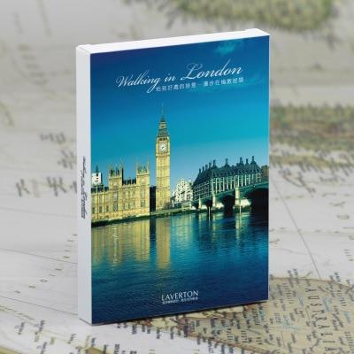 30Sheets/LOT Take A Trip Walking In London Postcard/Greeting Card/wish Card/Fashion Gift
