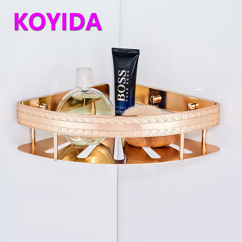 KOYIDA Aluminum Shower Caddy Single Tier Bathroom Shelves Shampoo ...