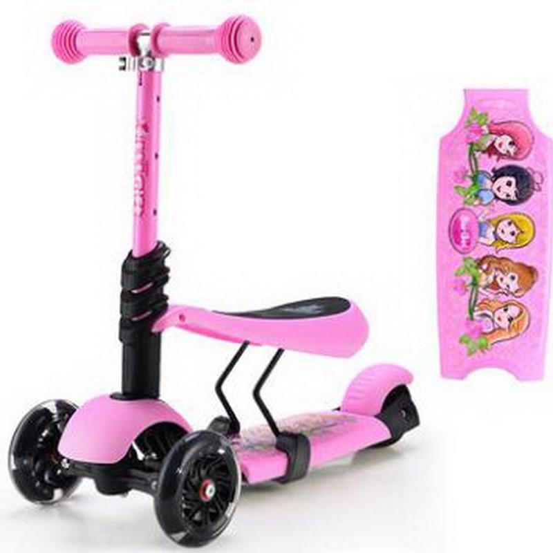 221206/child skateboard car/three-wheel flash tires/Anti-skid tread board/Triangular structure/Multi-color optional/