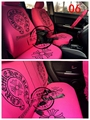 Car Seat Covers Fine pure cotton and lycra yarn fabric production Car Styling auto accessories Pink black car covers 72919