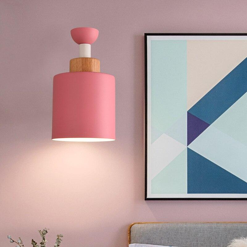 Scandinavian bedroom Art bedside Wall Lamp Circular Polychromatic Creative Lamps|Wall Lamps| |  - title=