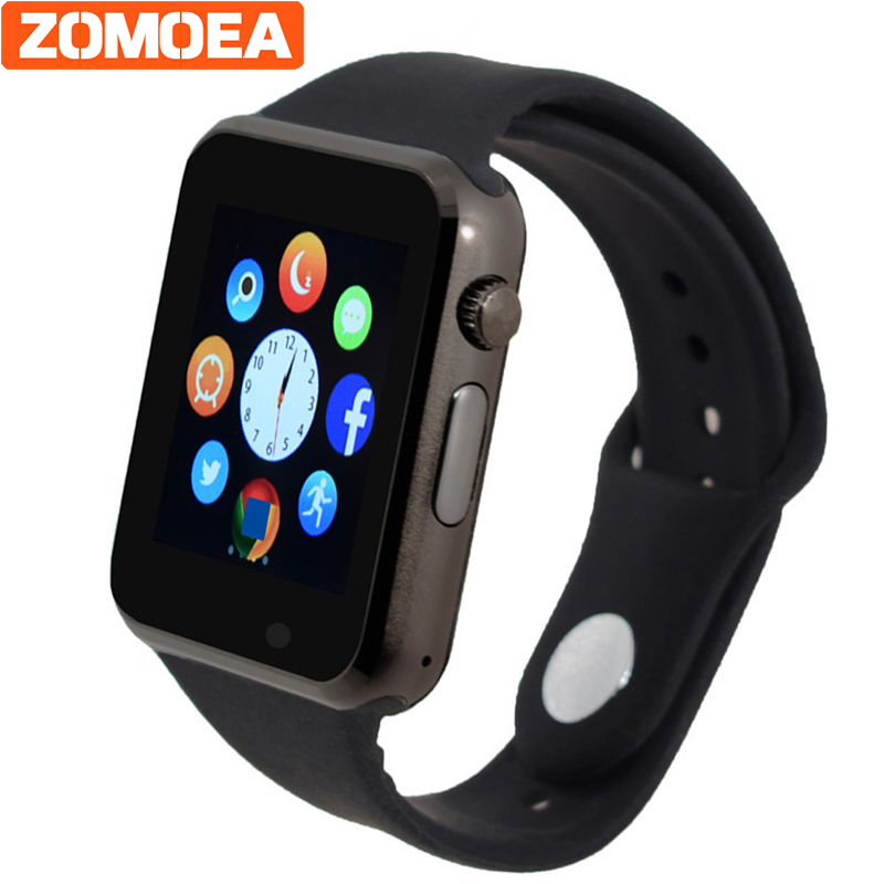 WristWatch Bluetooth Smart font b Watch b font Sport Pedometer With SIM Camera Smartwatches For Android