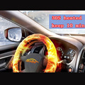 Malpractice electric heating steering wheel cover winter heated hub wheel cover,  leather 38cm  intelligent control