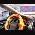 Negligencia cubo de la rueda cubierta cubierta del volante de invierno climatizada calefacción eléctrica, control inteligente de cuero 38 cm