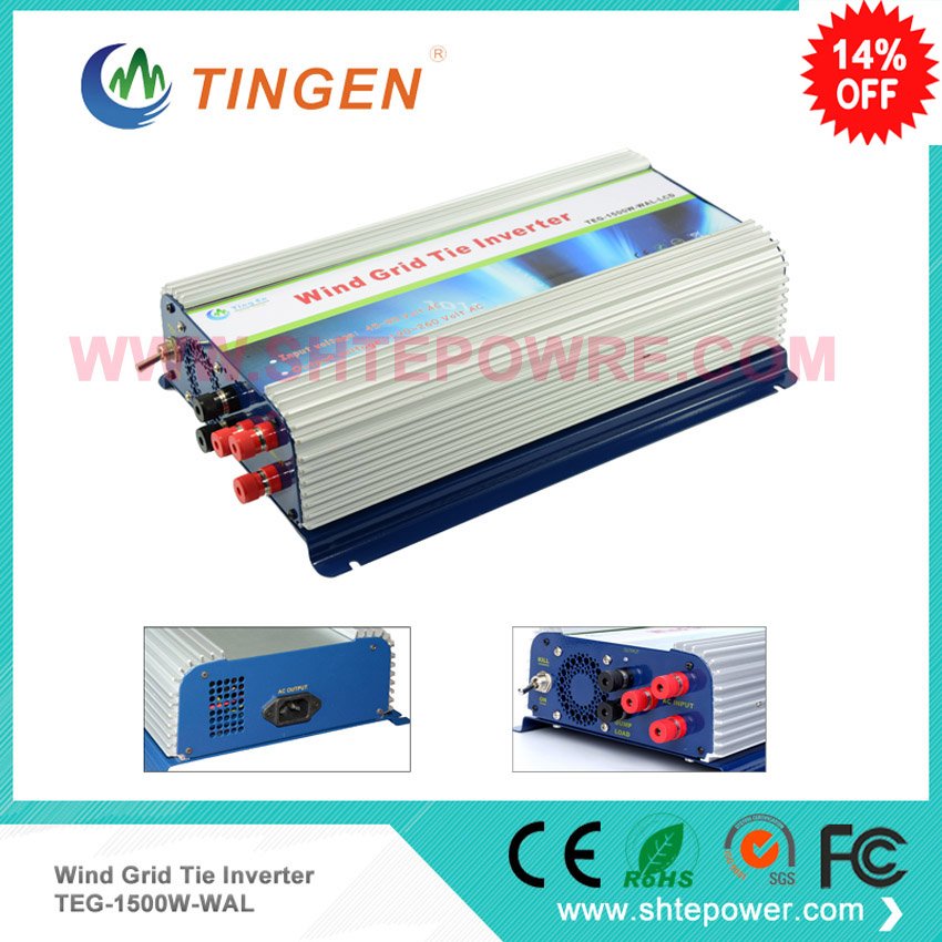 On grid tie 3 phase wind inverter ac input for wind turbine 1500w 1.5kw pure sine wave decen 1000w dc 45 90v wind grid tie pure sine wave inverter built in controller ac 90 130v for 3 phase 48v 1000w wind turbine