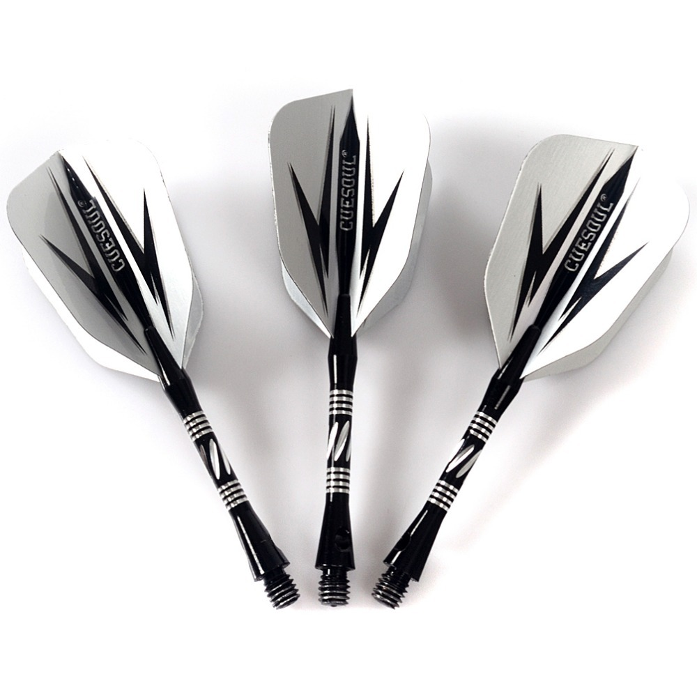 CUESOUL 3pcs Steel Tip Darts 20g Nice Flights Brass Barrels with Aluminum Shafts and Case in Darts from Sports Entertainment