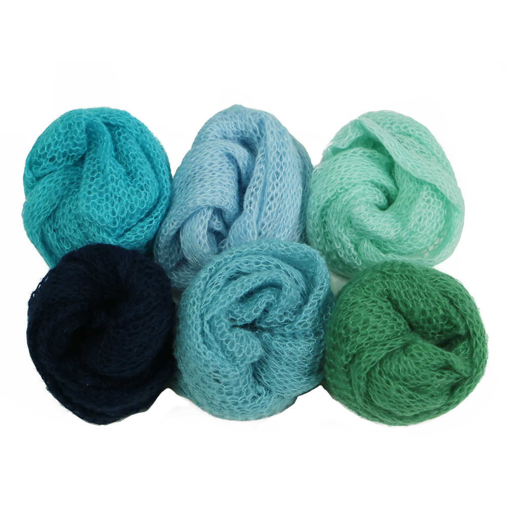 New 6pcs Pack Stretch New Photography Props Newborn Fotografia Blanket Baby Mohair Wraps Newborn Accessories Baby Photo Props