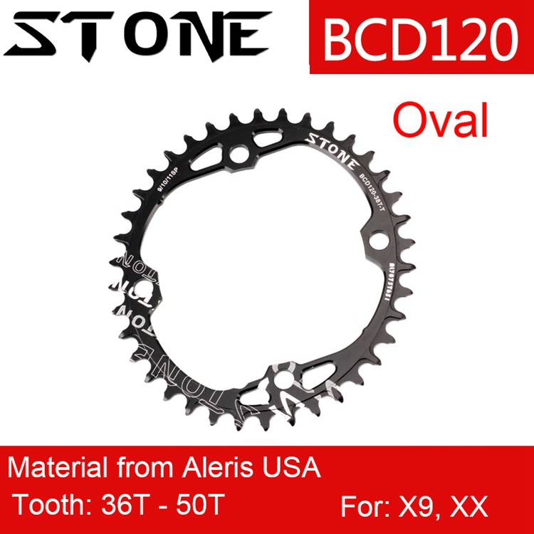 Stone Chainring for XX X9 120 BCD Oval 34T 36 38T 40T 44 46T 48T Cycling MTB Bike Chainwheel <font><b>120bcd</b></font> for sram image