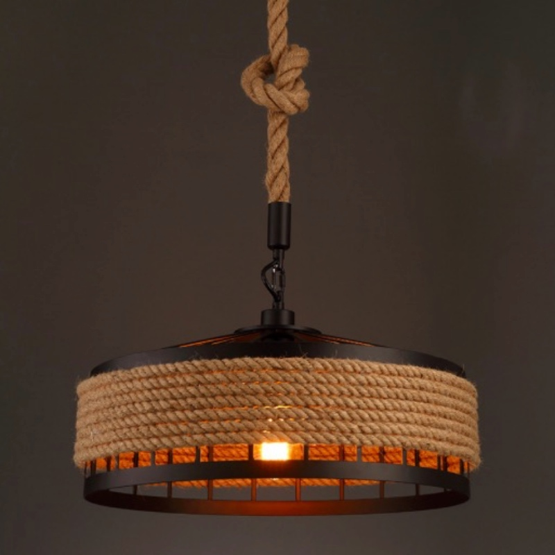 Vintage Industrial American Country Black Iron Hemp Rope Led E27 Pendant Light for Restaurat Coffee Bar Dia 30/40cm 1656 vintage industrial american country black iron hemp rope led e27 pendant light for restaurat coffee bar dia 30 40cm 1656