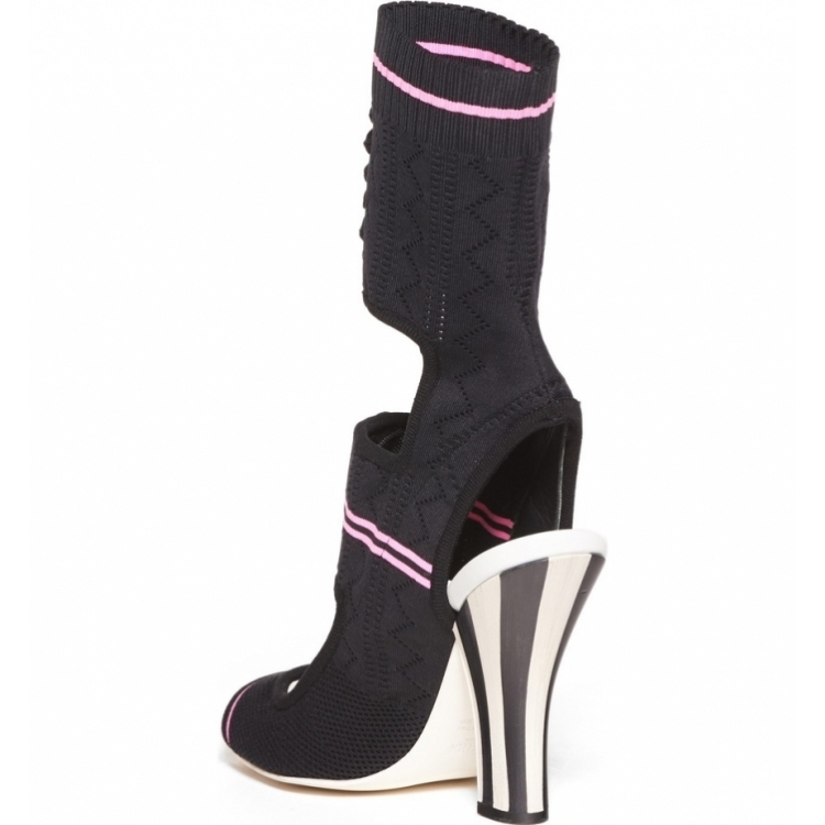THEMOST New Women High heels Sandals Big size 33-43 Summer Hollow knitting Booties Peep toe Slingbacks Shoes woman Hoof heels women high heels big