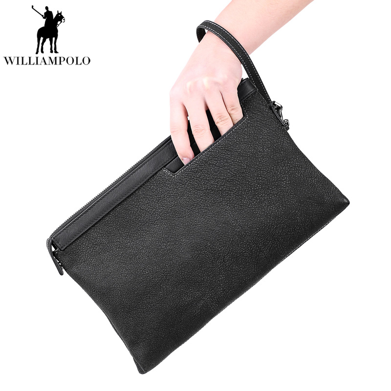 2017 Men Business High Capacity Clutch Bag Male vintage Genuine Leather Wallets Interior Slot Pocket iPad Holder Zipper Purses long wallets for business men luxurious 100% cowhide genuine leather vintage fashion zipper men clutch purses 2017 new arrivals