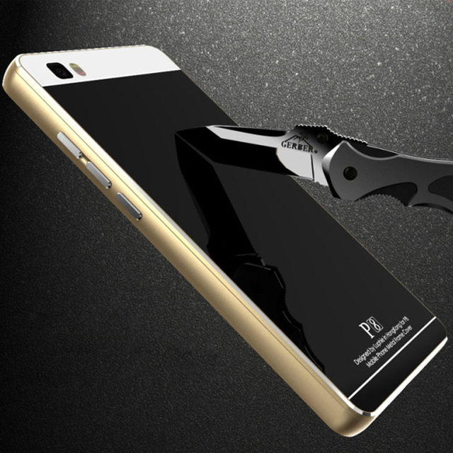 wholesale dealer 0cb55 54d60 US $33.2 |Brand LUPHI For Huawei P8 Lite Metal Aluminum Frame Bumper With  Tempered Glass Back Case For Huawei P8 Lite 5.0 Inch fundas para on ...