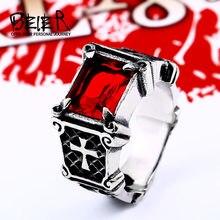 Beier nova loja 316l aço inoxidável de alta qualidade gem anel lotes do vintage fria anel moda jóias LLBR8-061R