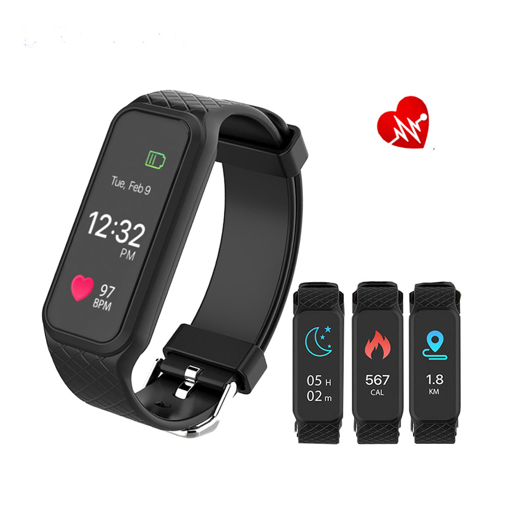 Volemer L38I Bluetooth Sports Smart Band 16million Full color TFT LCD Screen Dynamic Heart Rate Smart