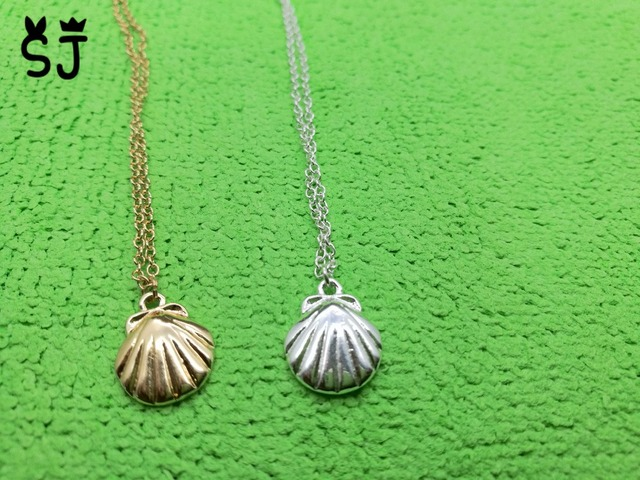 necklace new item pearl scallop pendant freshwater charm fashion women sterling design natural for