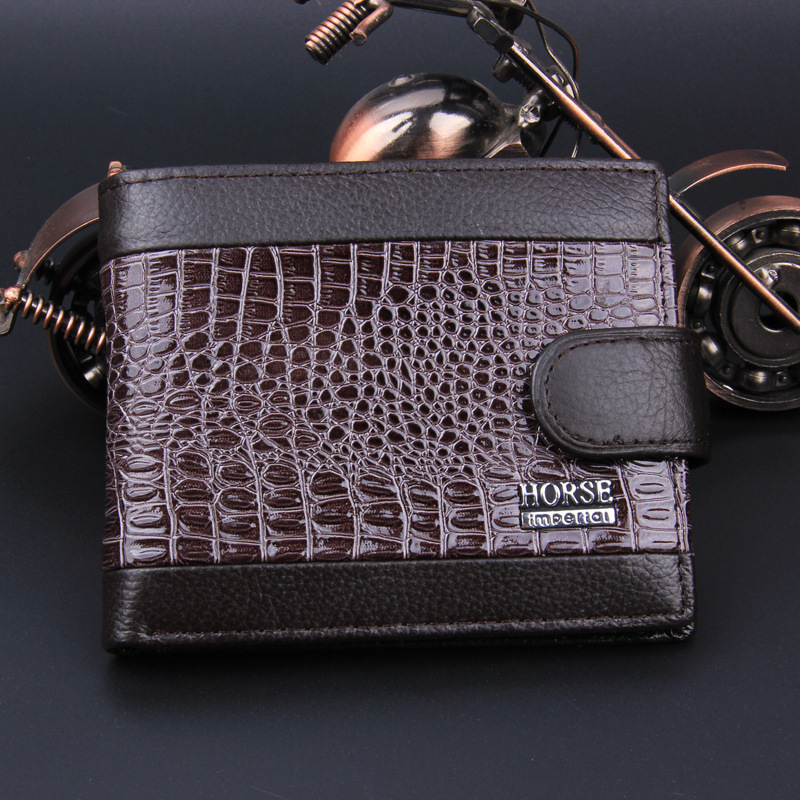New 2018 Genuine Leather Men Wallets Short Coin Purse Small Vintage Wallet  Brand Card Holder Pocket Purse Man Money  Bag