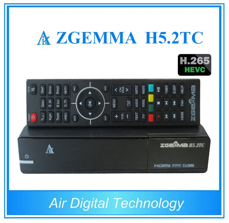 2pcs/lot 2017 Newest Official Version ZGEMMA H5.2TC Multistream Satellite/Cable Receiver H.265 DVB-S2+2*DVB-T2/C Dual Tuners brand new e3ra tp11 d with free dhl page 2