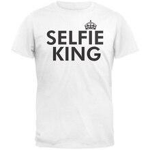 Bulk T Shirts Crew Neck New Style Old Glory - Selfie King Short Sleeve Tee Shirt For Men