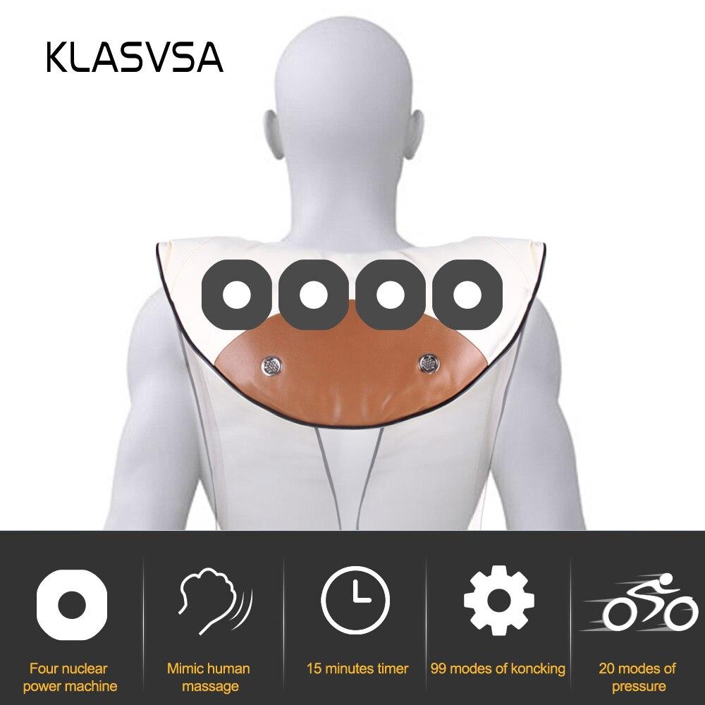 KLASVSA الكهربائية الرقبة الكتف يطرق مدلك شال عنق الرحم الخلفي الخصر قطني تدليك الرأس جهاز الرعاية الصحية 4 KnockHeads-في التدليك والاسترخاء من الجمال والصحة على  مجموعة 2