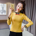 2017 elastic Spring sweater women Short white pullover sexy pink jumpers Autumn Slim basic knitwear tops