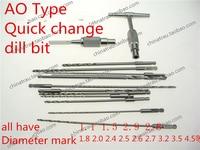 Medical Orthopedic Instrument AO Quick Change Bone Drill Bit Lengthen Locking Plate Screw Drill Bit Pet