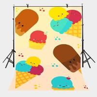 5x7ft Ice Cream Backdrop Melting Ice Cream Minimalistic Photography Background and Studio Photography Backdrop Props