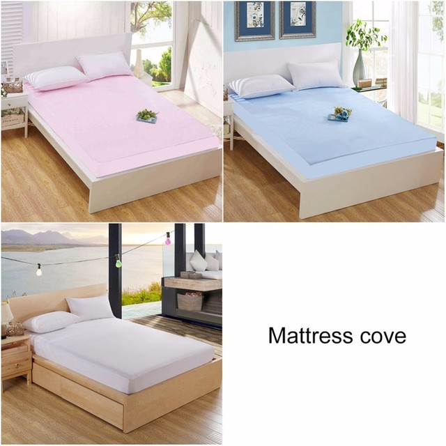 Twin Queen Size Terry Waterproof Mattress Protector Cover For Bed Wetting And Bug Suit