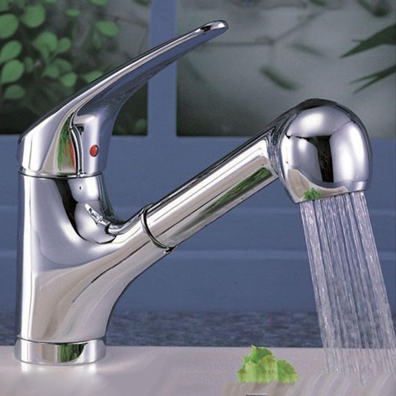 2 Functions Kitchen Faucet Pull Out Sprayer Nozzle Water Saving Kitchen Faucet Spray Head Water Tap Faucet Filter W315