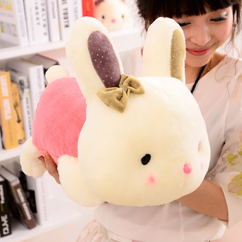 Free Shipping 20cm Rabbit Plush Toy Doll Staffed Animal Lying Rabbit Toy Car & Home Decoration Kids Toys Girls Gifts dezhou 50pcs lot coins texas hold em clay poker chips 14g color crown