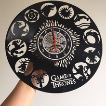Game of Thrones Themed LED Vinyl Wall Clock