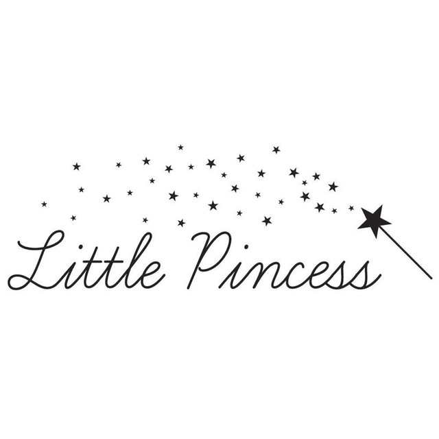 Little Princess Vinyl Wall Stickers Quotes Wall Decal Girls Room