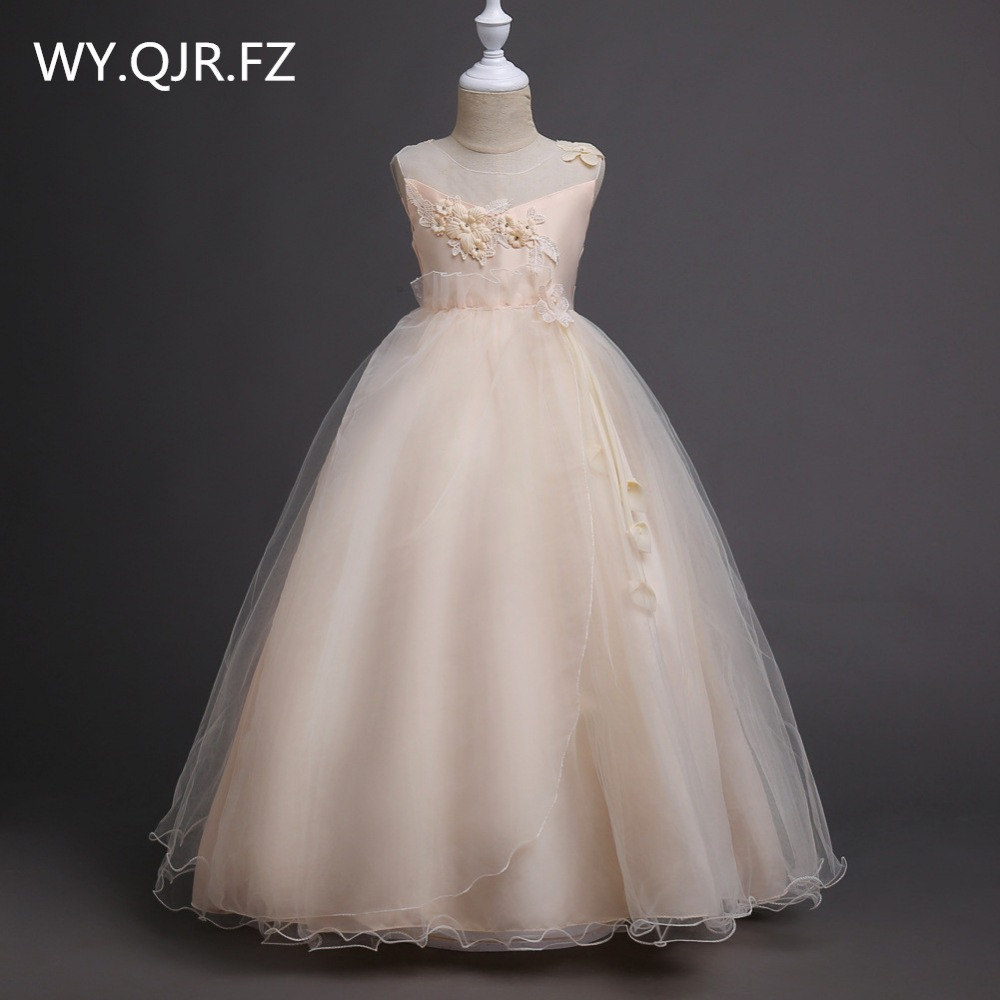 BH708X#Older children Champagne princess princess skirt   Flower     Girl     Dresses   School performance   dress   Wholesale children's wear