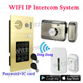 WIFI Video Doorphones Intercom Snap&Recording 1 Password/RFID Doorbell Waterproof 1 Electronic Lock 1 Door Chime 1 Button