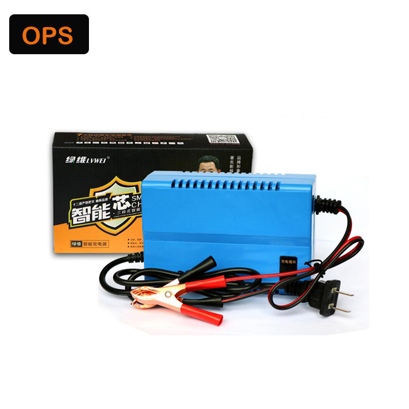 New LED display 12V 3A Motorcycle Smart Lead Acid battery charger for 20AH to 40AH battery