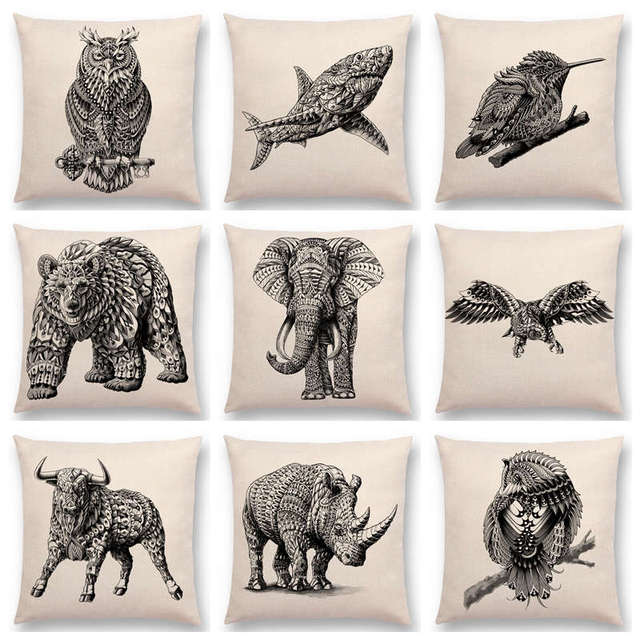 Hot Sale Wild Animals Totems Free Beast Faith Tattoo Prints Owl