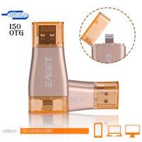 EAGET I50 OTG USB Flash Drive 64GB Pen Drive For Apple iPhone iPad iPod 32GB 64GB 128GB USB Memory Stick Drive Pen Flash Disk