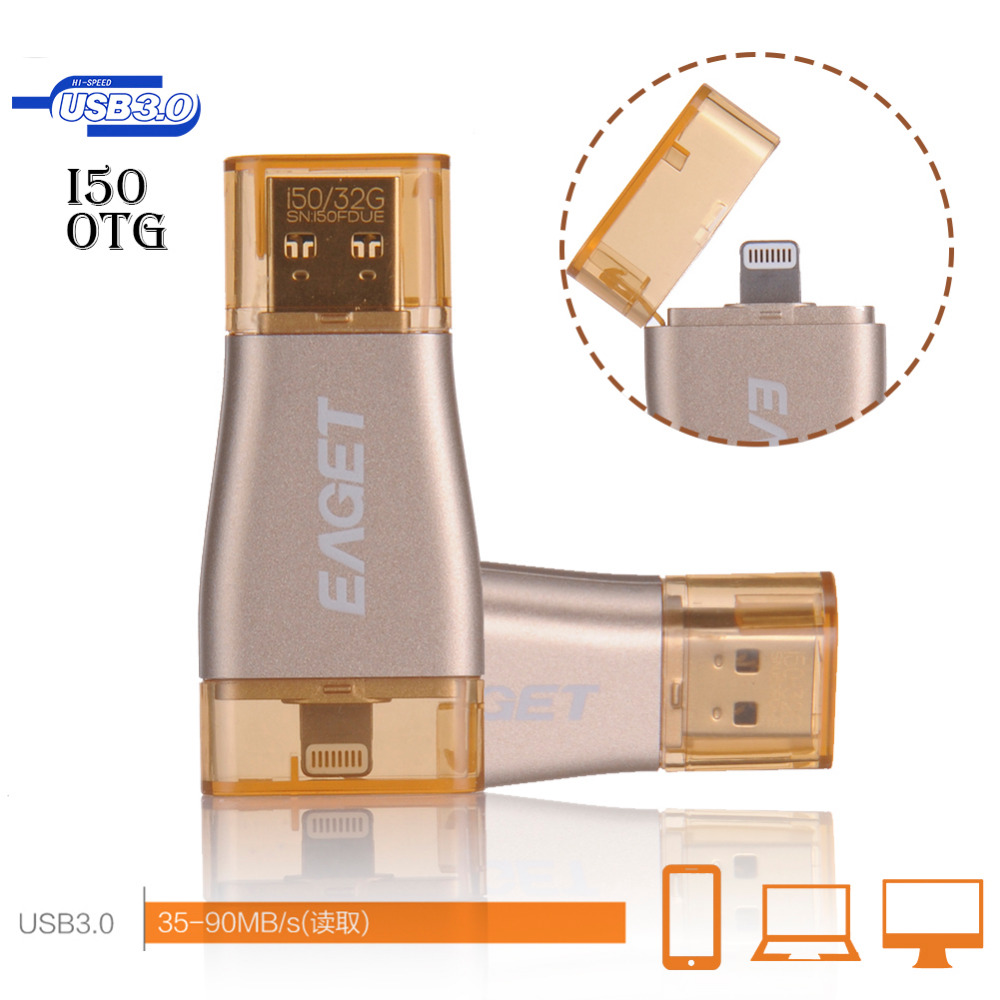EAGET I50 OTG clé usb 64 GB Stylo Lecteur Pour Apple iPhone iPad iPod 32 GB 64 GB 128 GB clé usb lecteur Stylo disque flash