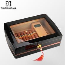 Cigar Box Transparent skylight Large Capacity Cedar Wood Humidor HH-115
