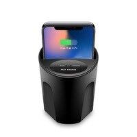 X8 Qi Bezprzewodowa Ładowarka Samochodowa Telefon Stojak Uchwyt Na Kubek Kubek 10 W dla dla QI-włączona Inteligentny Telefon