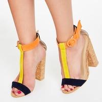 2020 New Arrival Summer Sandals Women T strap Gladiator High Heels Women Pumps Street Fashion Peep Toe Block Heels Sandals Women