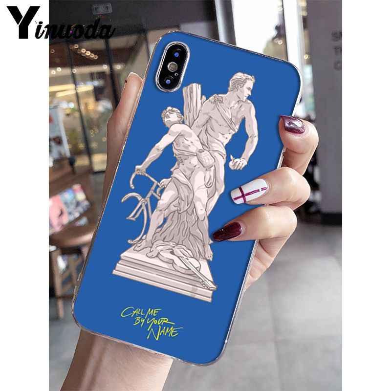 Yinuoda Call Me โดยของคุณชื่อโปสเตอร์รูปแบบ Tpu สำหรับ iPhone 8 7 6 6S Plus X XS MAX 5 5S SE XR 10 ฝาครอบ