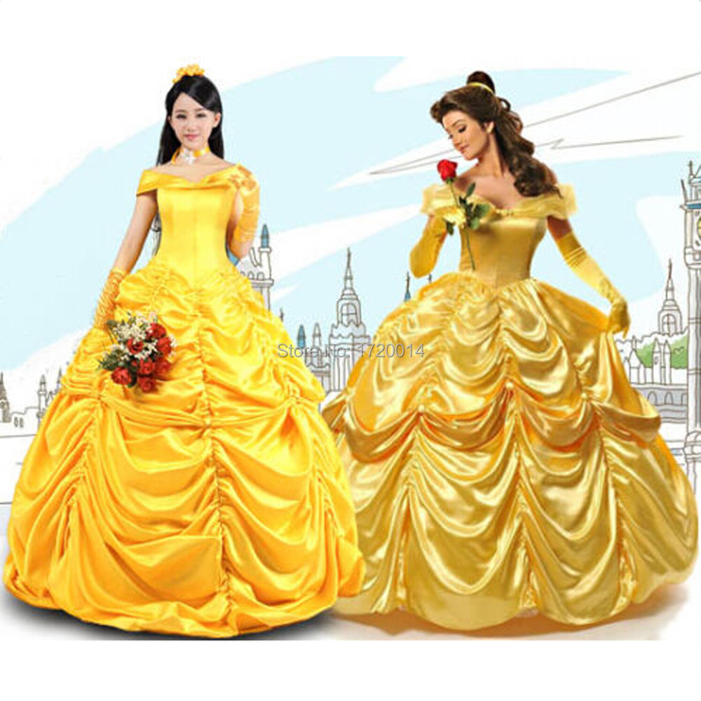 beauty and the beast belle yellow children adult women. Black Bedroom Furniture Sets. Home Design Ideas