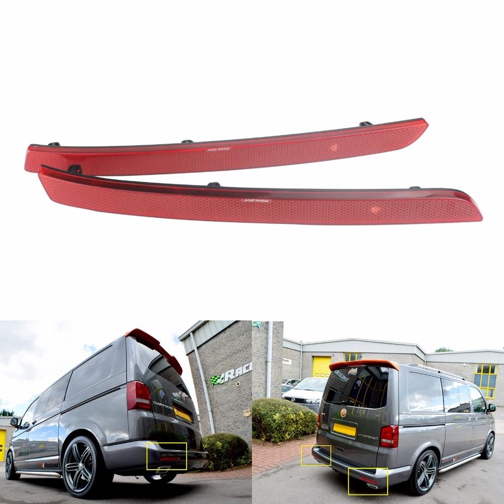 SET VW T5 Transporter Multivan 03-09 2x REAR LIGHTS TAIL LIGHTS RED SMOKE OEM