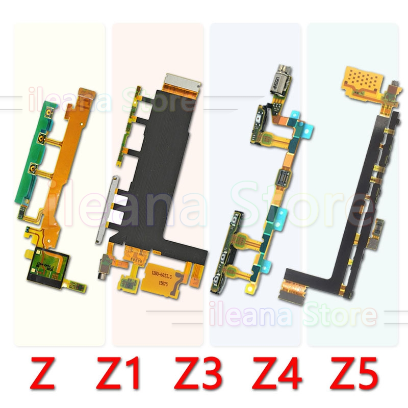 For Sony Xperia Z Z1 Z2 Z3 Z4 Z5 Compact Premium Plus Original Dock Charging LCD Connector Power Volume Key Mic Flex Cable