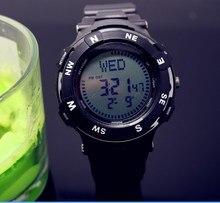 2016 nuevos hombres de Lujo relojes brújula digital mujeres natación led 50 M impermeable reloj boys & gilrs moda mutil-función de relojes