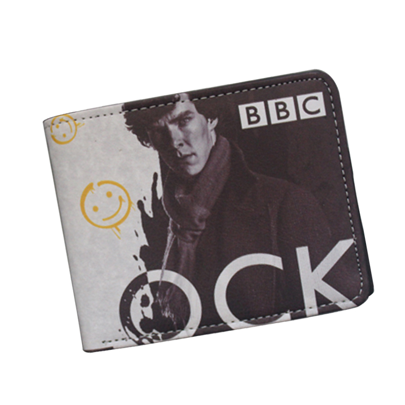Funny Novelty Sherlock Holmes Wallets With Small Zipper Pocket Mens Wallet Coin Pocket Smile Purse Original Brand Student Wallet dayle a c the adventures of sherlock holmes рассказы на английском языке