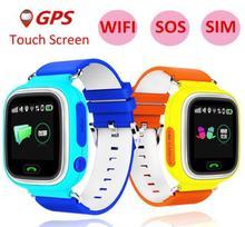 Дешевые Слизняк gps Детские умные часы Q90 для Smartwatch С 1,22 дюйма Сенсорный экран SOS вызова расположение трекер для детей безопасный best подарок